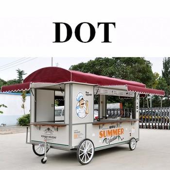 American Road Trip Snacks Small Food Trailer Mobile Cart Uranus SRJJRHL