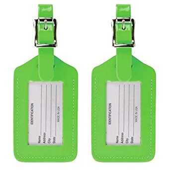 OEM Standard Size Soft PU Custom Leather Color Luggage Tag