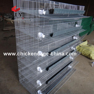 Industrial Quail Wire Cages For 6 Tier 400 Quails
