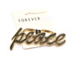 Fashion Two Finger Gold Letter Peace Word Party Ring for Women
