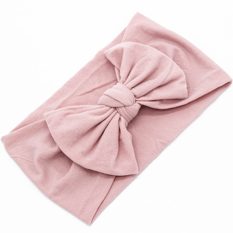 High Quality Handmade Bows Nylon Headbands Newborn Girls Wide Elastic Sport Head wraps Turban Hair Accessories