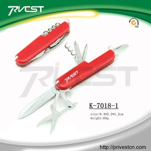 Wholesale Plastic Handle Daily Carry Multifunctional Swiss Knife