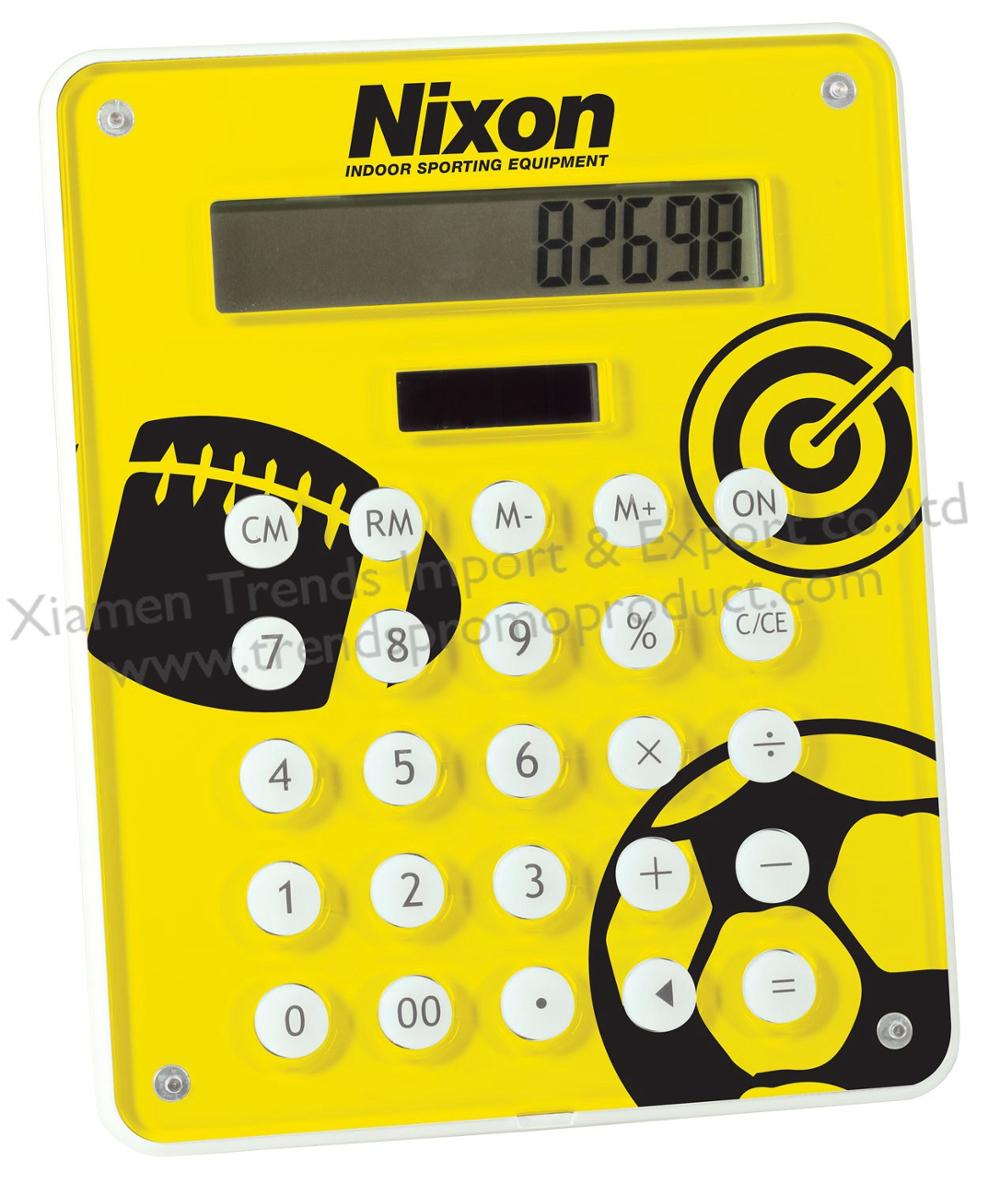 Giveaway print plate promotional 8 digit calculator