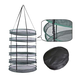 Hydroponic plant growing system 4layers 6layers 8layers 2ft 2.5ft 3ft detachable round Oxford cloth drying rack / dry net