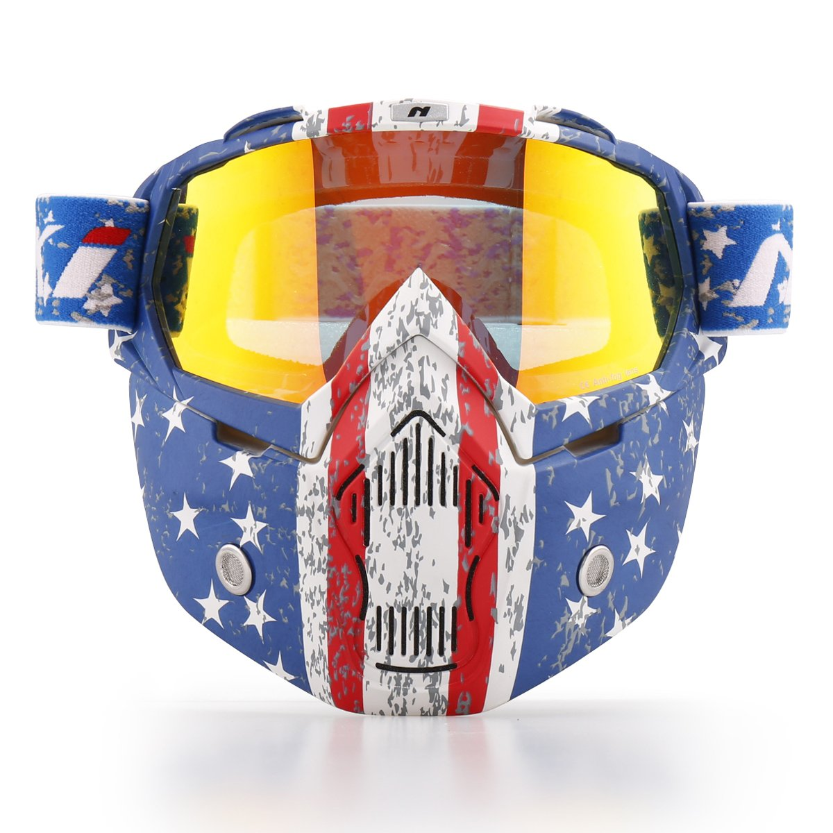 9e9493c9c7f Get Quotations · NENKI Motorcycle Goggles Mask NK-1019US For 3 4 Motorcycle  helmets And Retro Harley