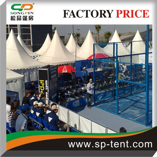 Sports events tents 20x20 side by side as sun shelter and lounge area