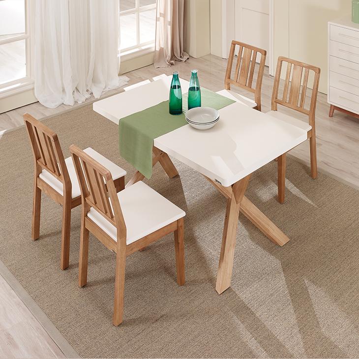 Moderne MDF top keuken tafel hout X been eettafel-houten tafels ...