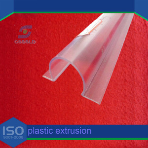 customized c channel plastic/clear flexible plastic c channel