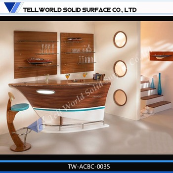 Modern Design Boat Shaped Corian Marble Home Wet Bar Furniture - Buy ...