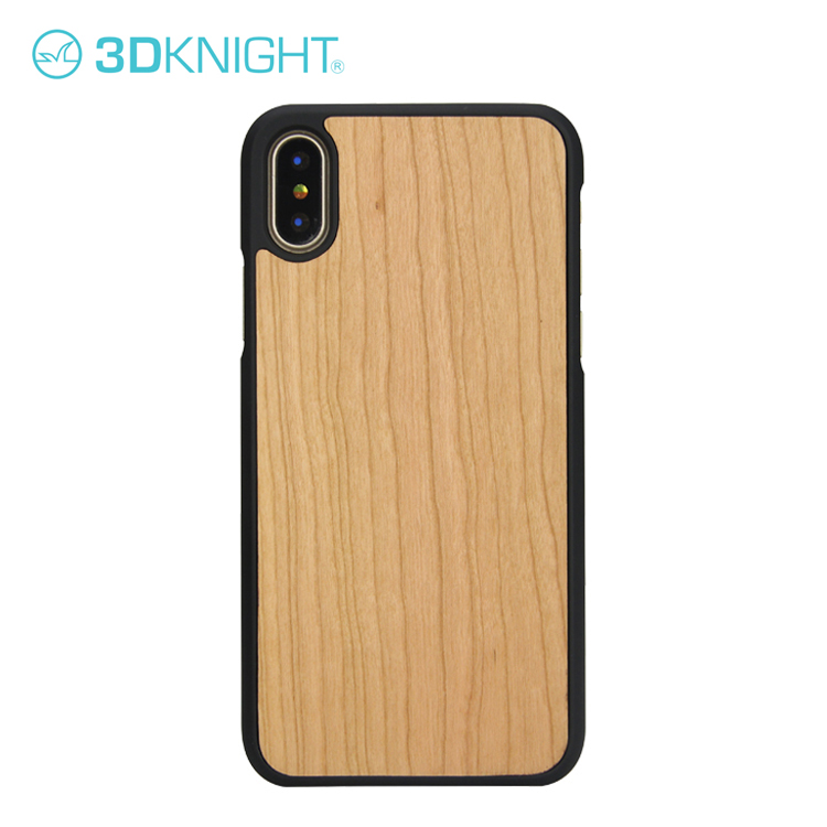 2018 Hot Sale Natural Blank PC Wood Case For iPhone X