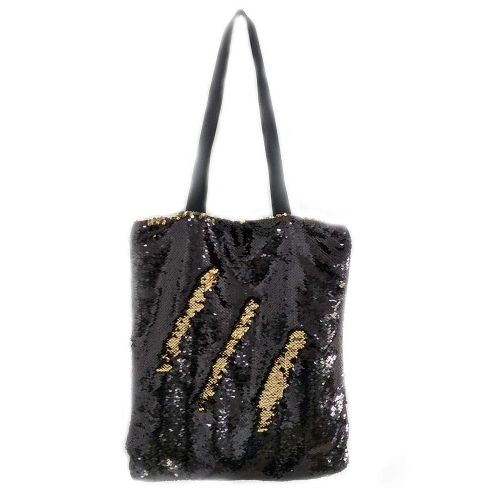 bc375115d558 Fanrich Woman Fashion Two Color Reversible Sequin Tote Bag Handbag Glitter  Paillette Shoulder Bag for Girl