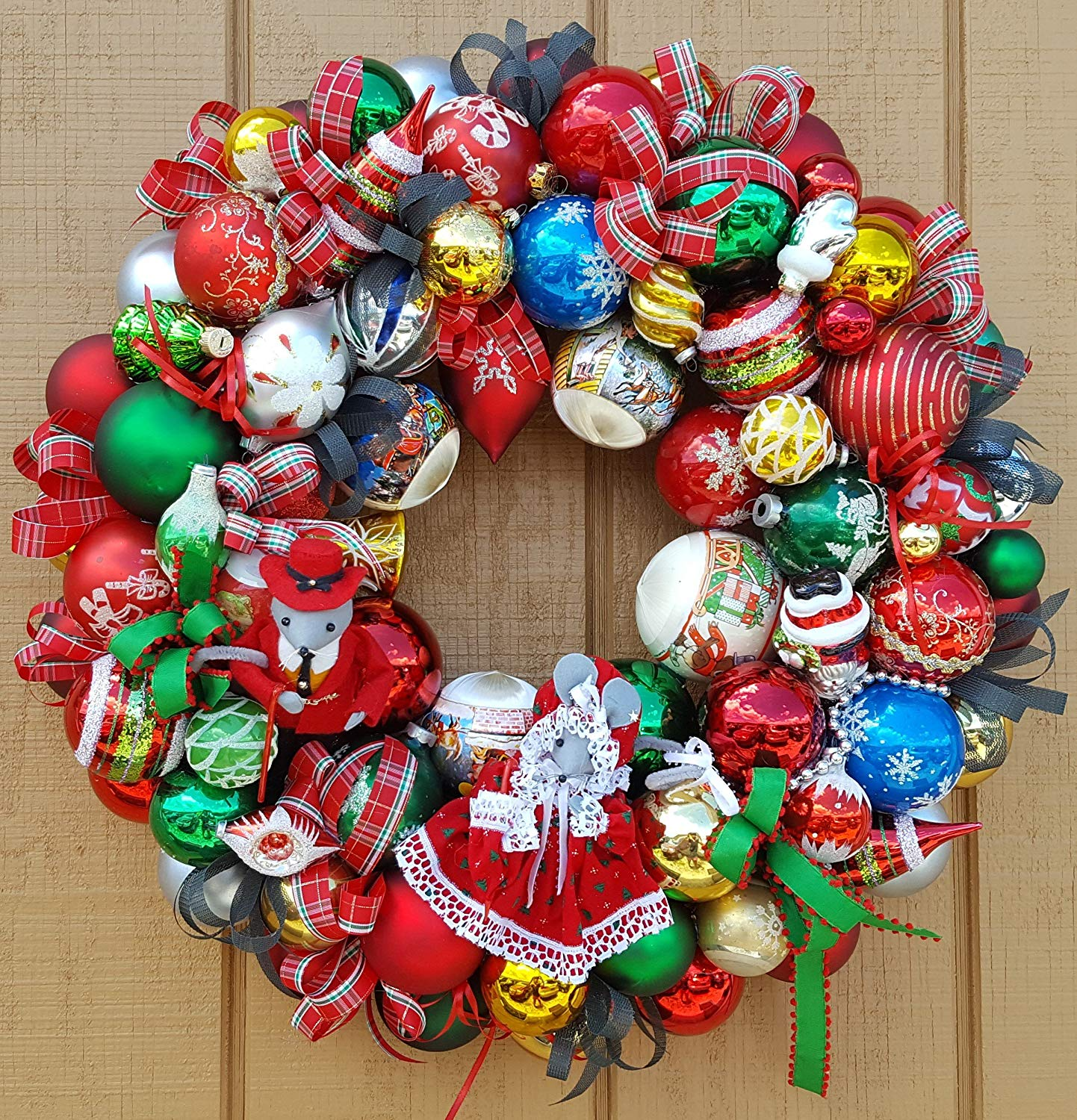 Buy 22 Vintage Glass Christmas Ornament Wreath Hand Crafted Mr