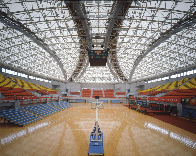 Arched prefabricated steel structure sport hall for building