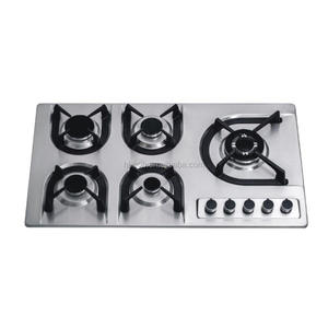 Fashion design kitchen cooking appliance 5 burners built in gas hob