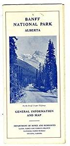 Banff National Park Brochure Alberta Canada 1940 General Information & Map