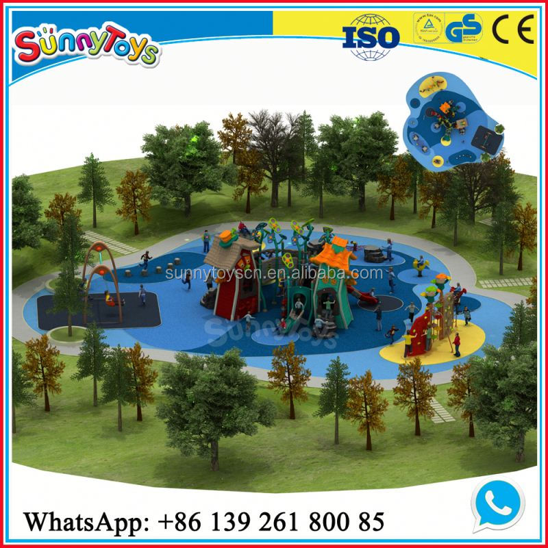 Kids play antique park benches playground equipment for special needs children