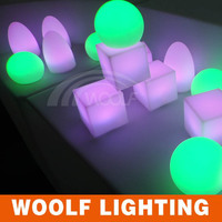 large garden glowing/flashing/illuminated led balls lights with rechargeable battery/remote led ball
