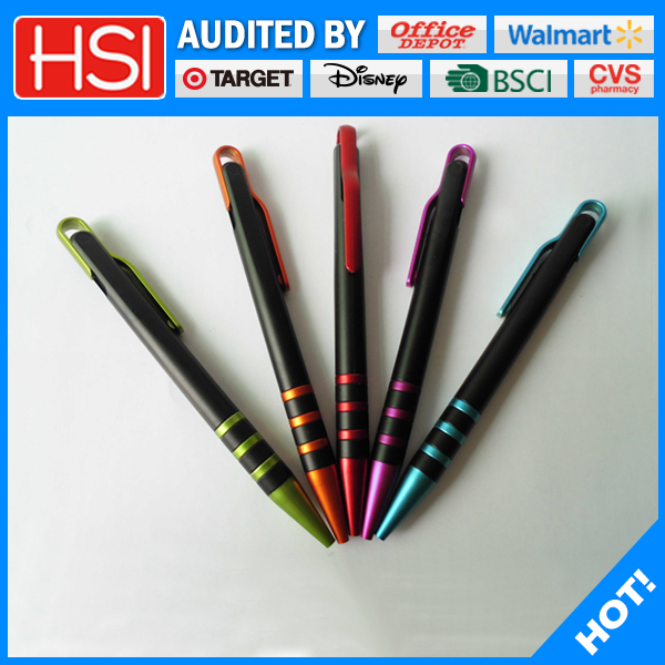 wholesale stationary writing instrument promotional plastic ball pen