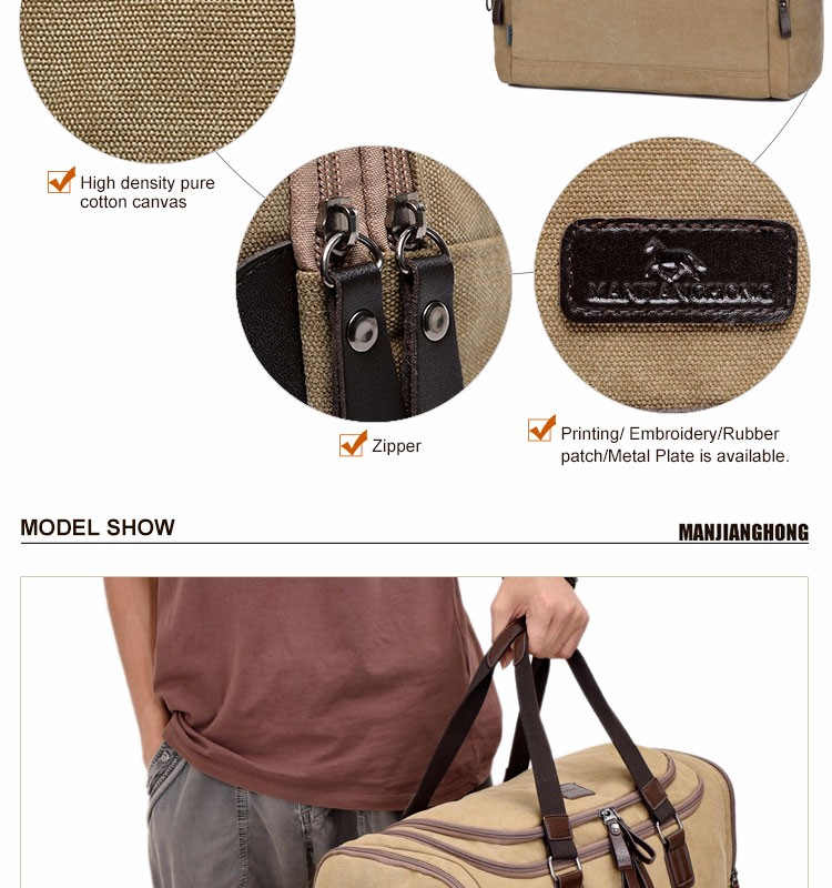 2019 Mens duffel bag canvas travel bags luggage sport style