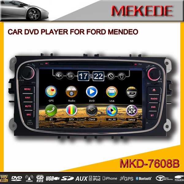Special CAR DVD Player for FORD MONDEO ,FOCUS, S-MAX with RADIO,GPS,DVD,BT,ATV,IPOD,full functions