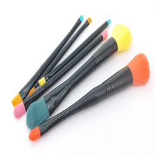6pcs Cute Two Sided Foundation Brush Eyeshadow Brush