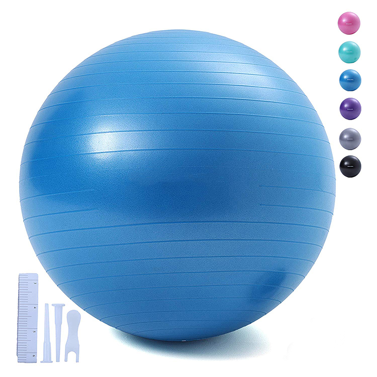 Stocked Custom Logo Exercise Fitness 65Cm Anti Burst PVC <strong>Yoga</strong> <strong>Ball</strong>/65cm <strong>Yoga</strong> <strong>Balls</strong>