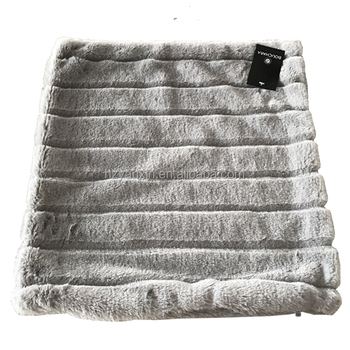High Quality 100 Polyester Faux Fur Pillow Faux Fur Cushion Covers