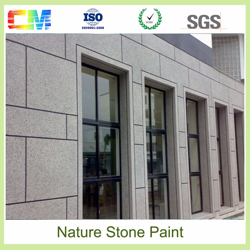 Non toxit waterbased waterproof fireproof UV proof rough outdoor texture natural stone wall paint for building