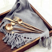 High Quality Stainless Steel Plated Rose Gold Cutlery Elegant Party Decorate European Flatware Sets