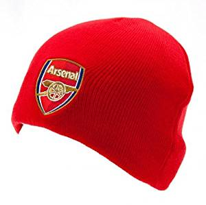 82fb85d677a Get Quotations · Arsenal FC Beanie Hat (Red Basic)