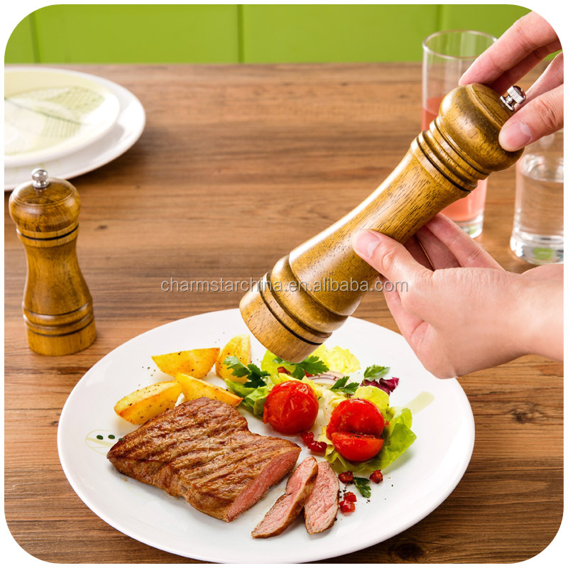 Manual Wood Pepper Mill Pepper Grinder