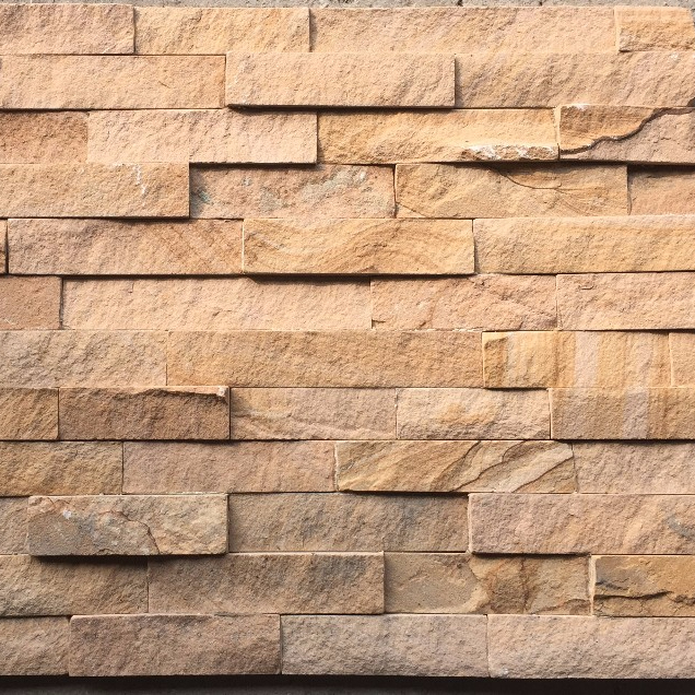 stacked stone panel pink sandstone wall deco culture stone WP-D33