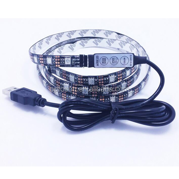 USB LED Strip Black PCB SMD 5050 RGB IP20/IP65 Waterproof Tape DC5V TV Background Lighting DIY Home Decorative Lamp RGB