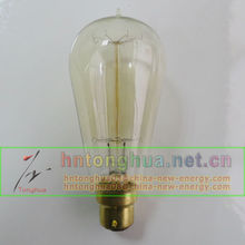 ST58 17 Anchors b22 base vintage carbon filament edison bulb