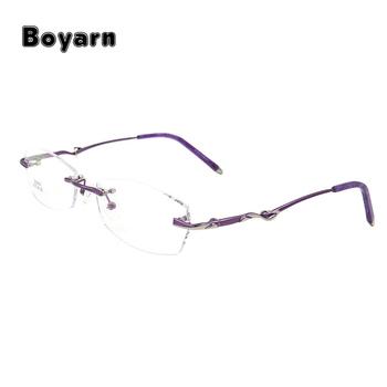 S2613 Rimless Eyeglasses Frame For Women Rimless Eyewear Glasses ...