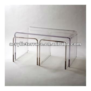 Crystal lucite /Acrylic console laptop table/desk and chair
