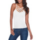 Fashion sexy women breathable vest cropped tank tops cami white top for women