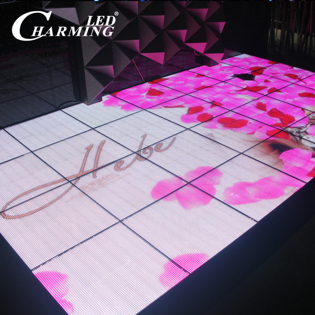 Charming LED portable led brick led dance floor 500*500mm disco floor for sale club
