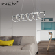 High quality crystal chandelier multicolored LED pendant hanging lamp for living room
