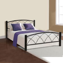 Customized size home bedroom furniture platform twin/full size metal bed frames wholesale