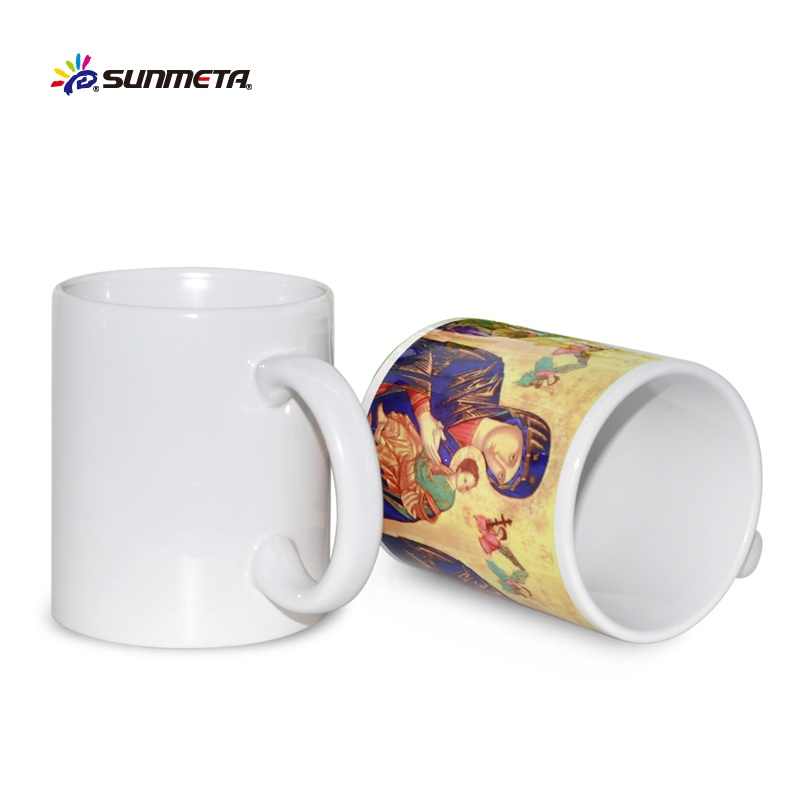 White blank sublimation mug wholesale ceramic coffee mugs for sublimation magic cups factory