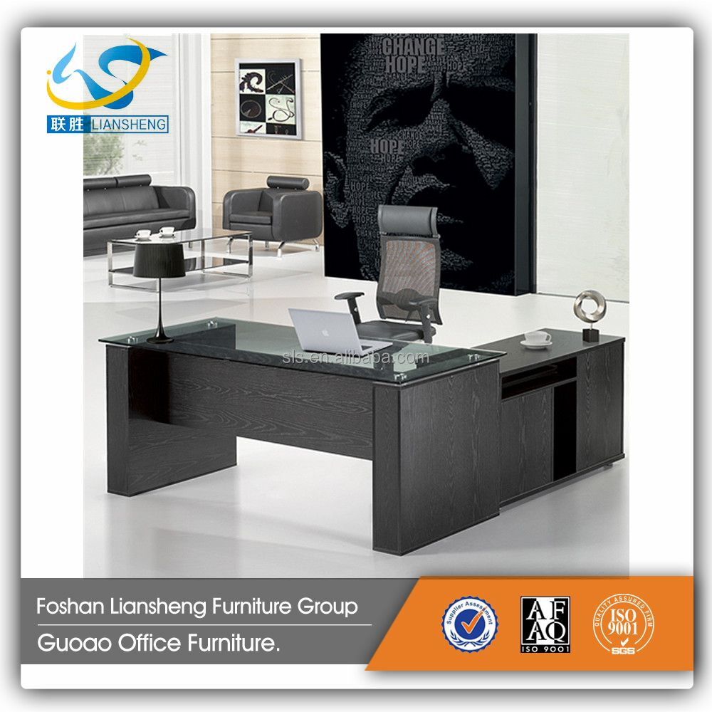 Glass office table modern - Modern Glass Office Desk Modern Glass Office Desk Suppliers And Manufacturers At Alibaba Com