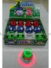 Flashing football electronic spinning top with music