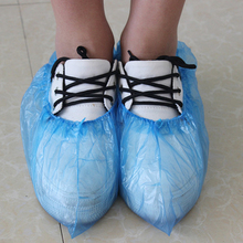 normal disposable hdpe shoe cover in blue shoe covers