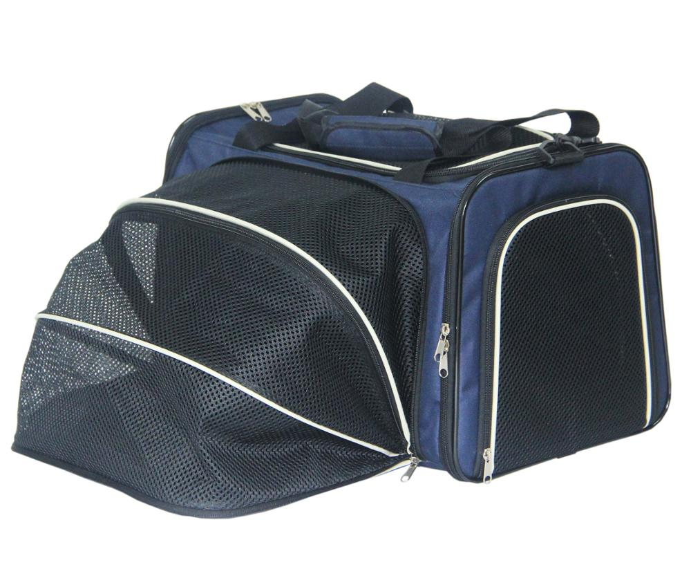 Airline approved Pet Carriers Expandable Pet Carrier Cat Bag Foldable Cage For Cat Dog