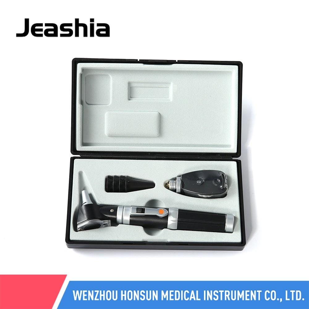 HS-OTP10-1 china fabricante conjunto de aparelhos de diagnóstico ouvido espéculo otoscope octalmoscópio kit presente china lupa cabeça