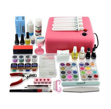 BIN D'art D'ongle de Lampe UV Gel Vernis À Ongles Kit