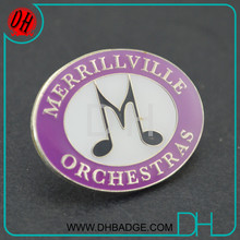 Direct selling musical lapel pin metal badges insignia OEM/ODE free design artwork