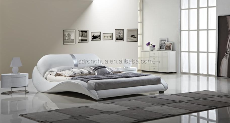 Camas de cuero cama estndar doble moderna de madera for La europea muebles