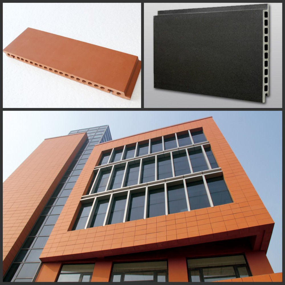 Exterior Curtain Wall Decorative Building Facades Clay Wall  Tiles,Terracotta Wall Panels Exterior Floor Tile - Buy Wall Covering Tile